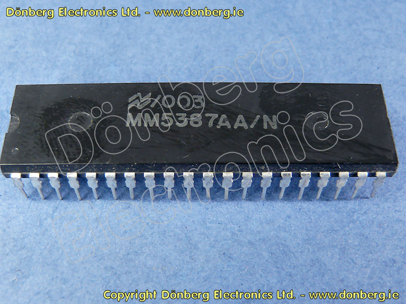 Semiconductor: MM5387 (MM 5387) - DIGITAL ALARM CLOCK CIRCUIT