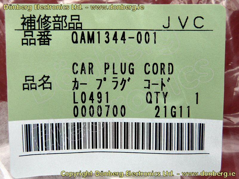 QAM 1344-001. CAR PLUG CORD JVC KDR321E CONNECTING CABLE
